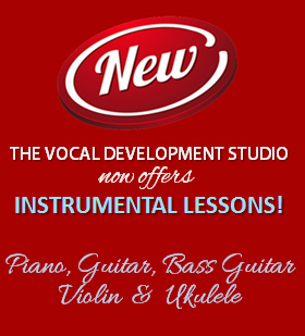 We Now Offer Instrumental Lessons in Piano, Guitar, Bass Guitar, Violin and Ukelele!
